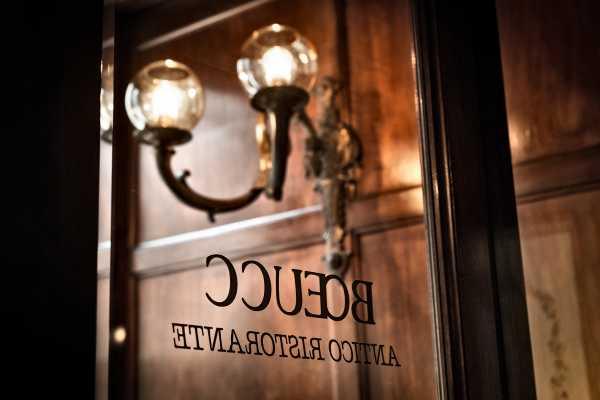 Historic restaurant ristorante boeucc milano