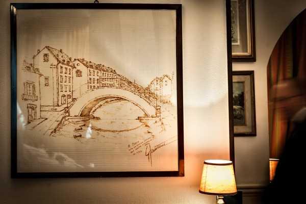Historical restaurant boeucc milan