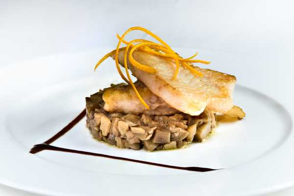 Seabass fillet with vegetables - Boeucc Restaurant Milan