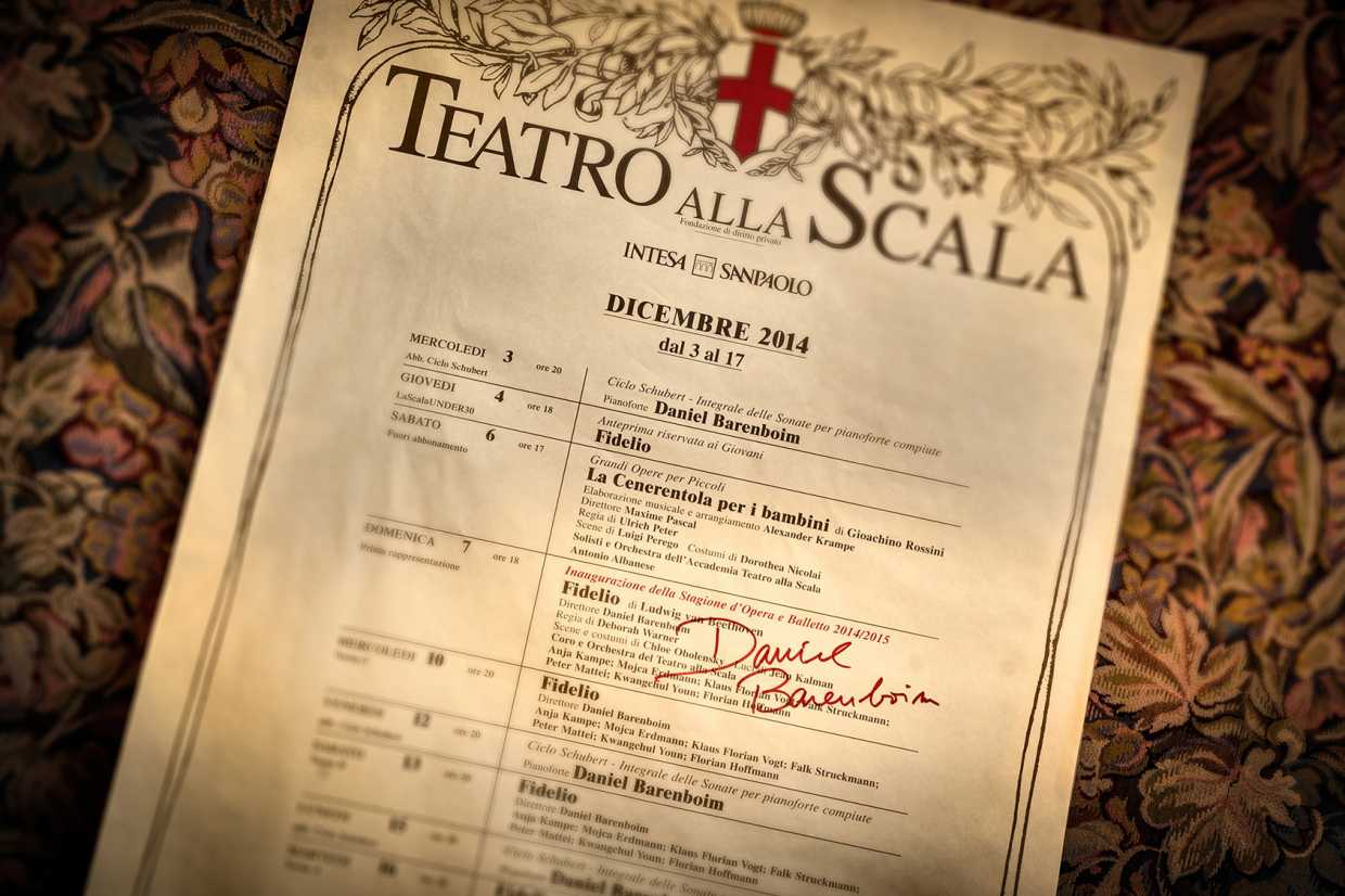 After Theater Alla Scala Milan